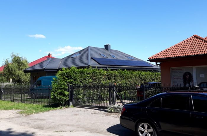 Panele słoneczne na domu w Redzie – 8kWp